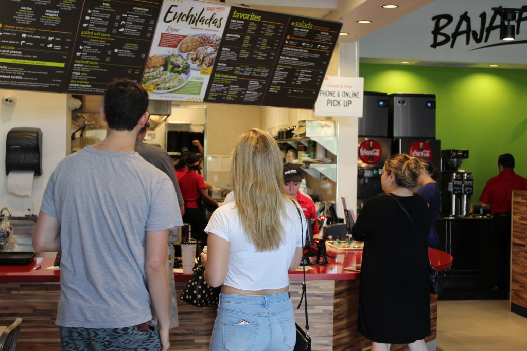 Baja Fresh restaurant interior