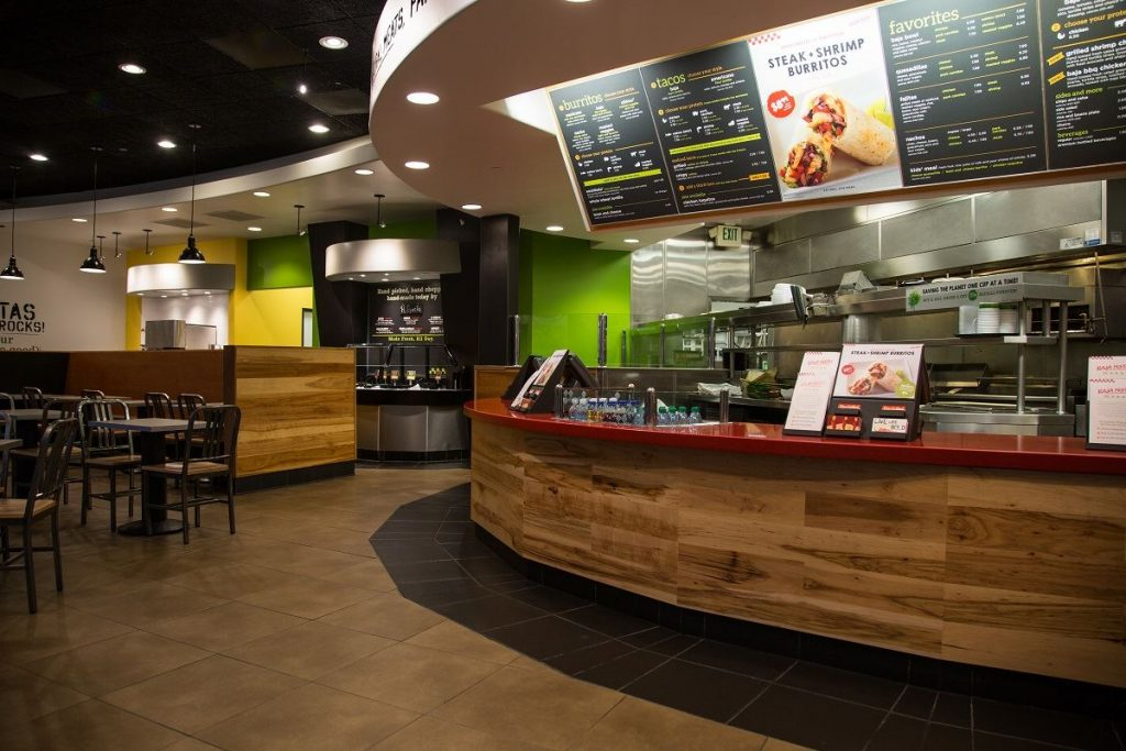 Baja Fresh restaurant interior