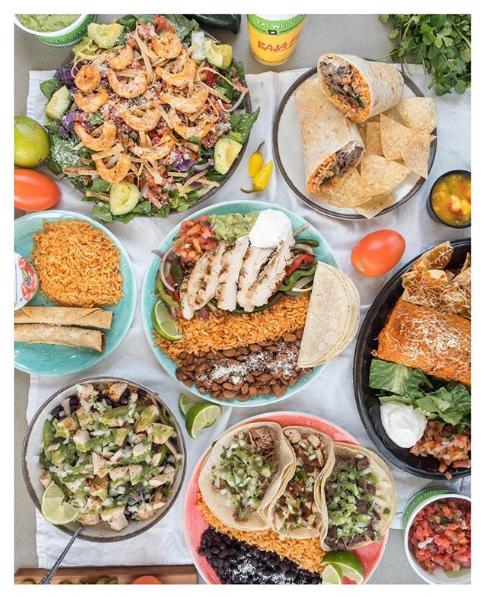 Healthy food choices in Baja Fresh