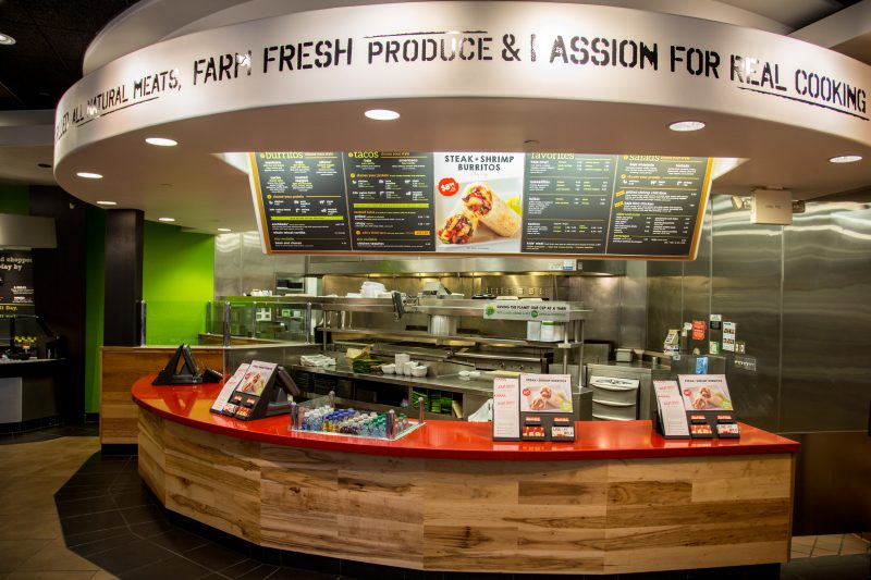 Baja Fresh restaurant counter